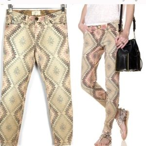 Current/Elliot 25-0 Navajo desert skinny jeans